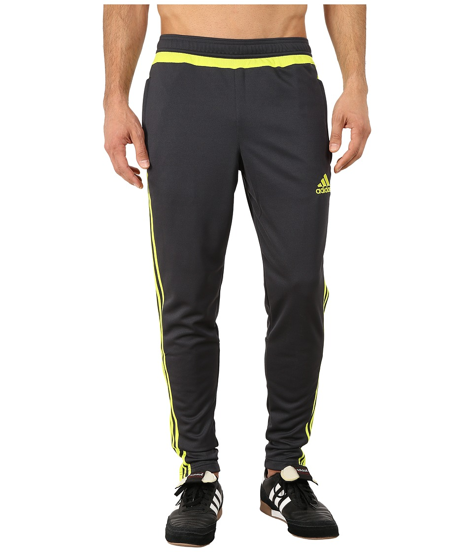 adidas - Tiro 15 Training Pant (Dark Grey/Semi Solar Yellow) Men's Workout
