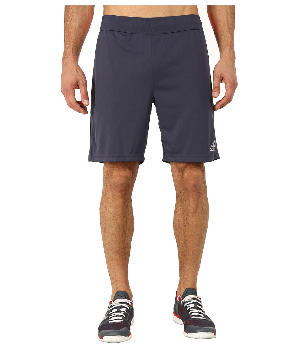 adidas - Barricade Climachill Shorts (Midnight Grey/MGH Solid Grey/Solar Red) Men's Workout