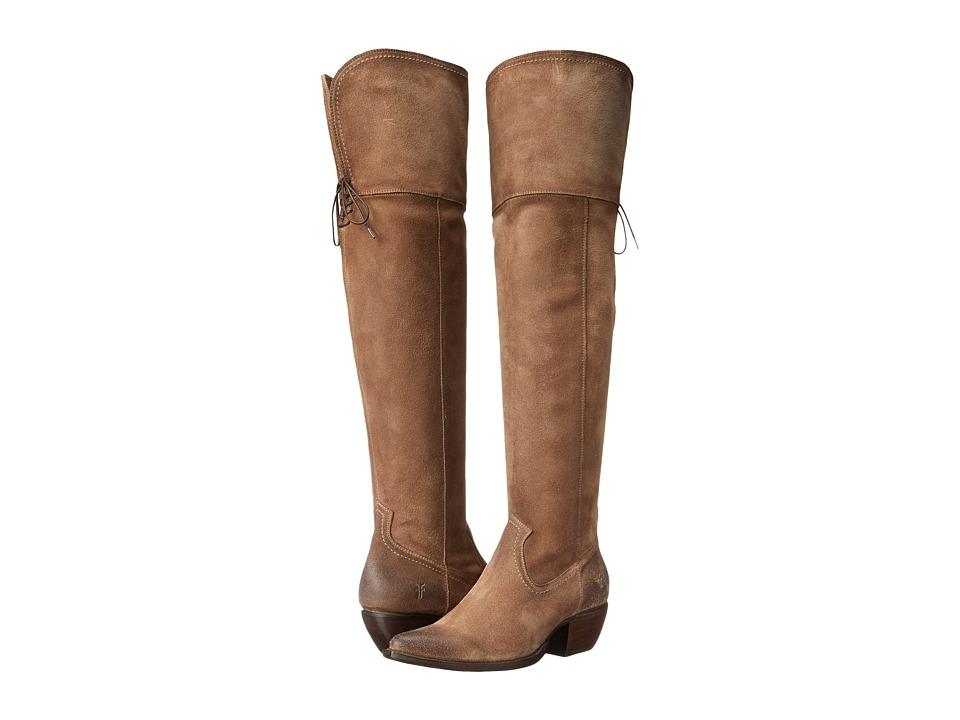 Frye - Sacha OTK (Ash Oiled Suede) Cowboy Boots