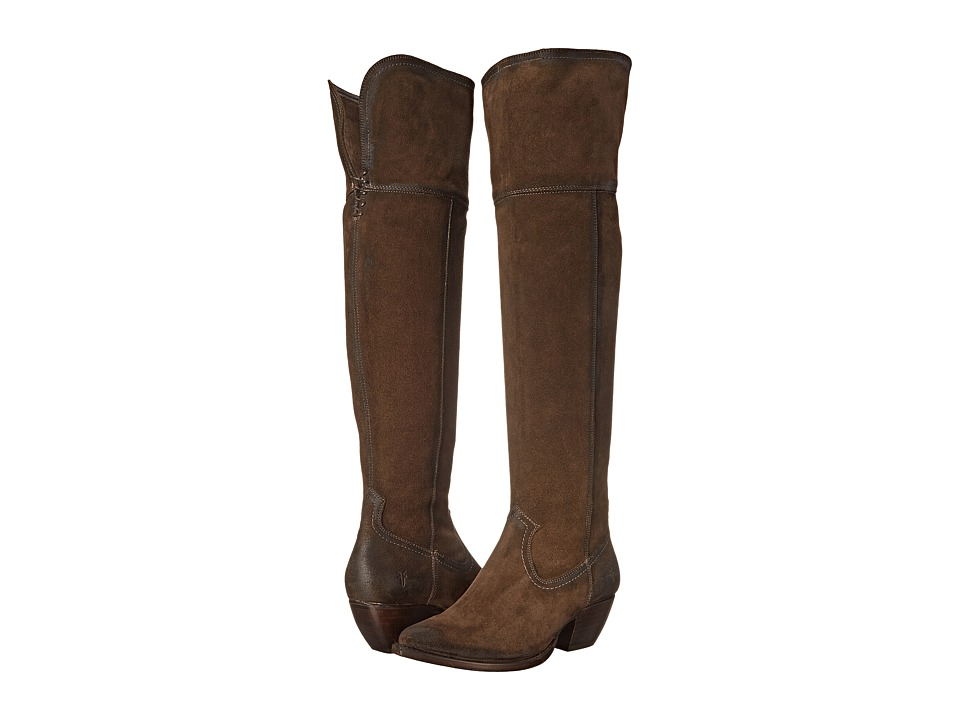 Frye - Sacha OTK (Fatigue Oiled Suede) Cowboy Boots