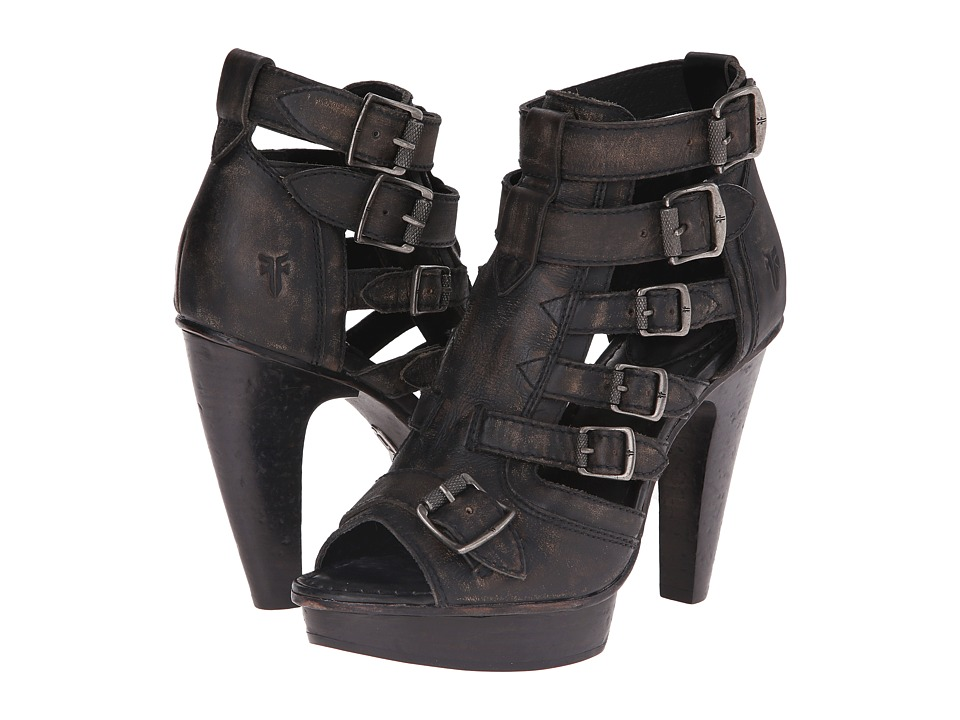 Frye - Samara Belted (Black Stonewash) High Heels