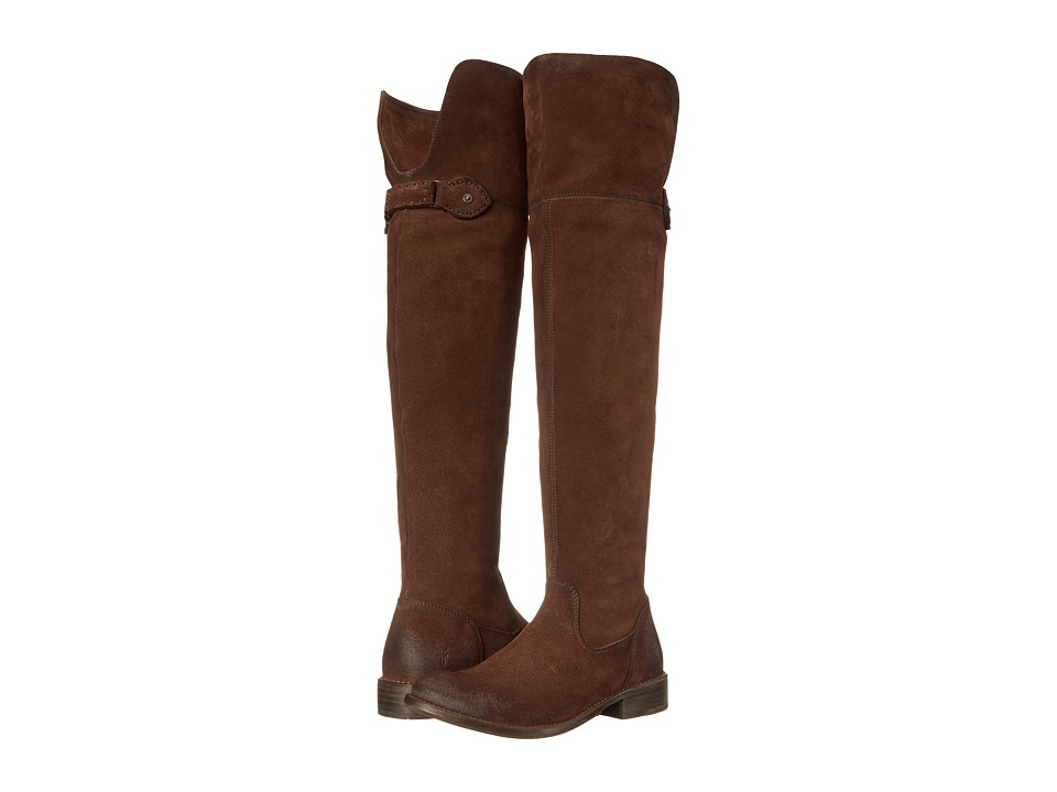 Frye - Shirley Over-The-Knee Riding (Brown Oiled Suede) Women's Pull-on Boots