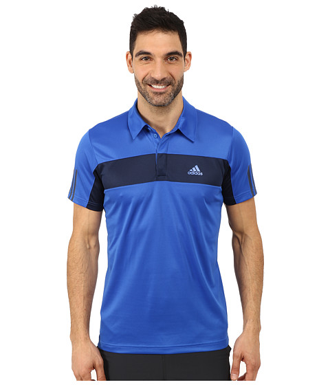 adidas - Tennis Sequencials Galaxy Polo (Blue/Collegiate Navy) Men's Short Sleeve Pullover