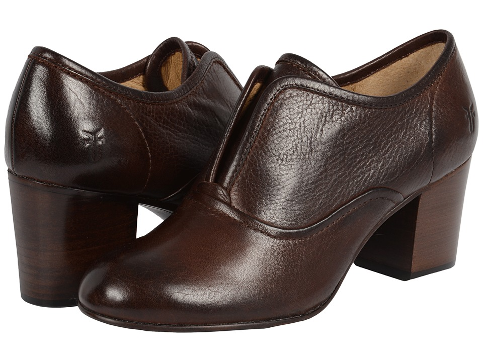 Frye - Stella Slip (Dark Brown Soft Vintage Leather) High Heels