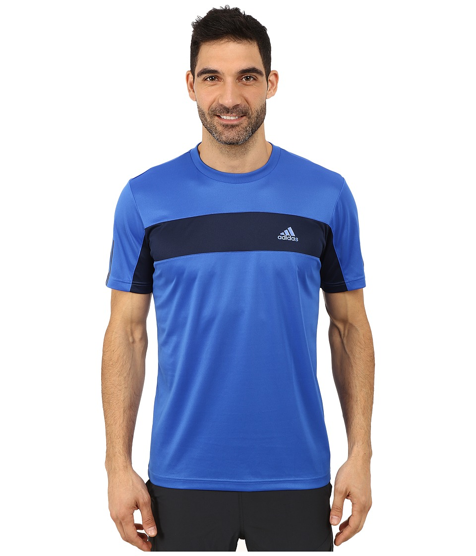 adidas - Tennis Sequencials Galaxy Tee (Blue/Collegiate Navy) Men