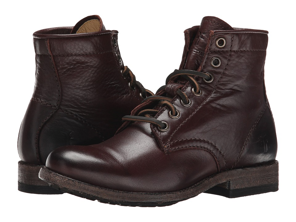 Frye Tyler Lace Up Dark Brown Soft Vintage Leather Womens Lace-up Boots