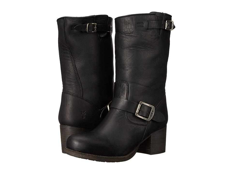 Frye - Vera Short (Black Washed Oiled Vintage) Cowboy Boots