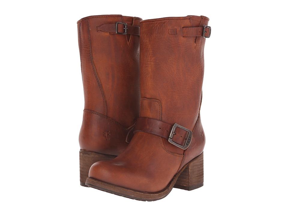 Frye - Vera Short (Cognac Washed Oiled Vintage) Cowboy Boots
