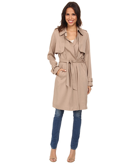 Vince Camuto - Long Trench H8061 (Naked) Women's Coat