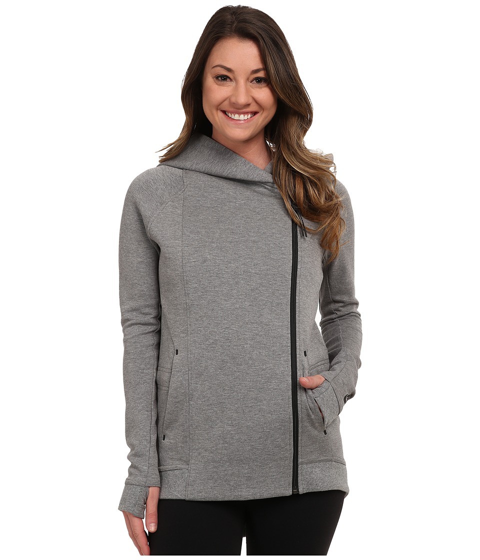 Nike - Tech Fleece Cape (Carbon Heather/Black) Women's Jacket