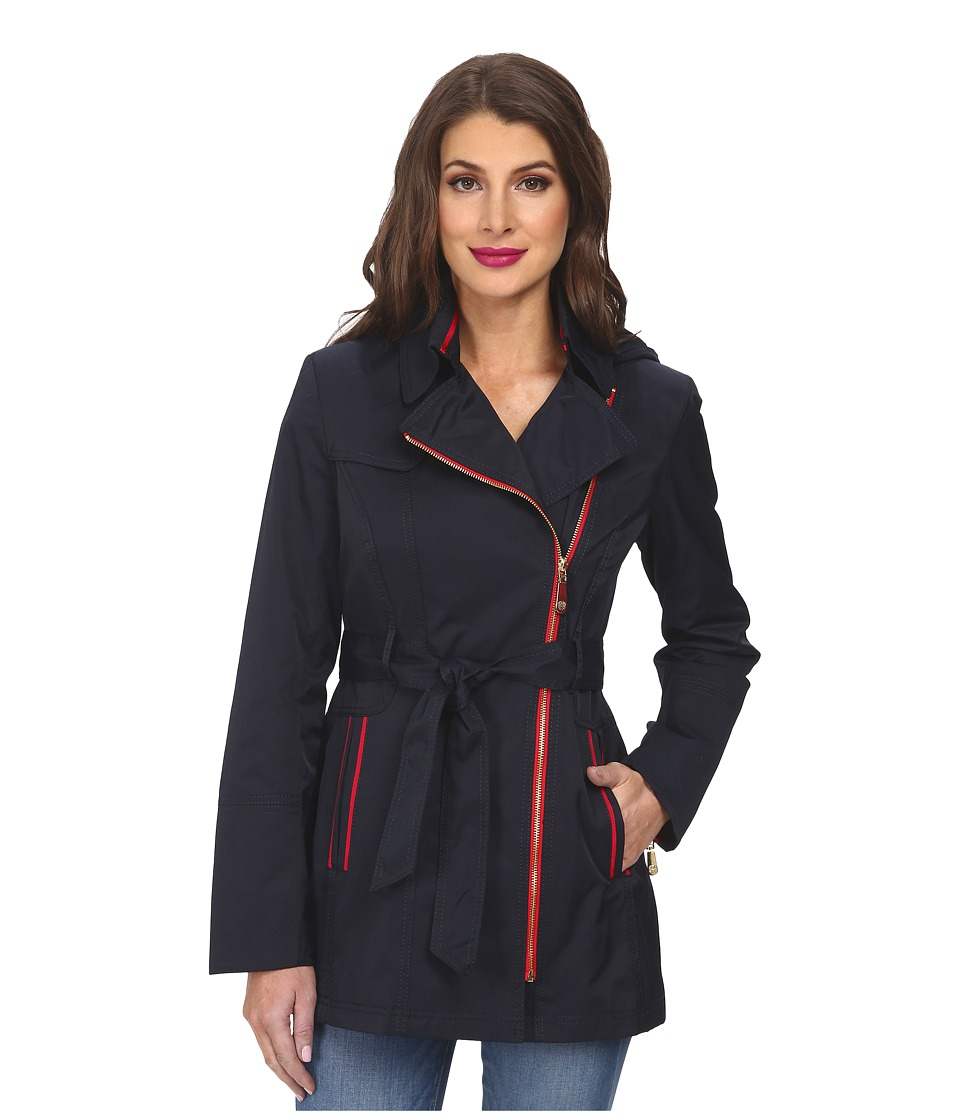 Vince Camuto - Trench H8301 (Navy) Women's Coat
