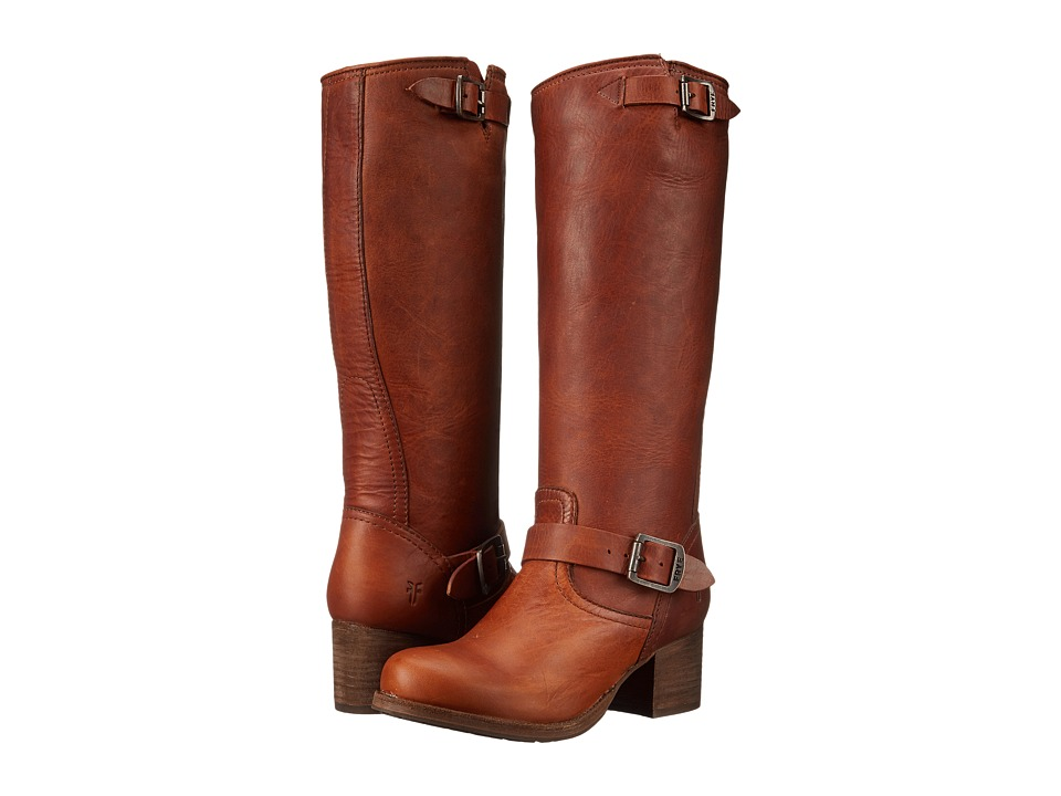 Frye - Vera Slouch (Cognac Washed Oiled Vintage) Cowboy Boots