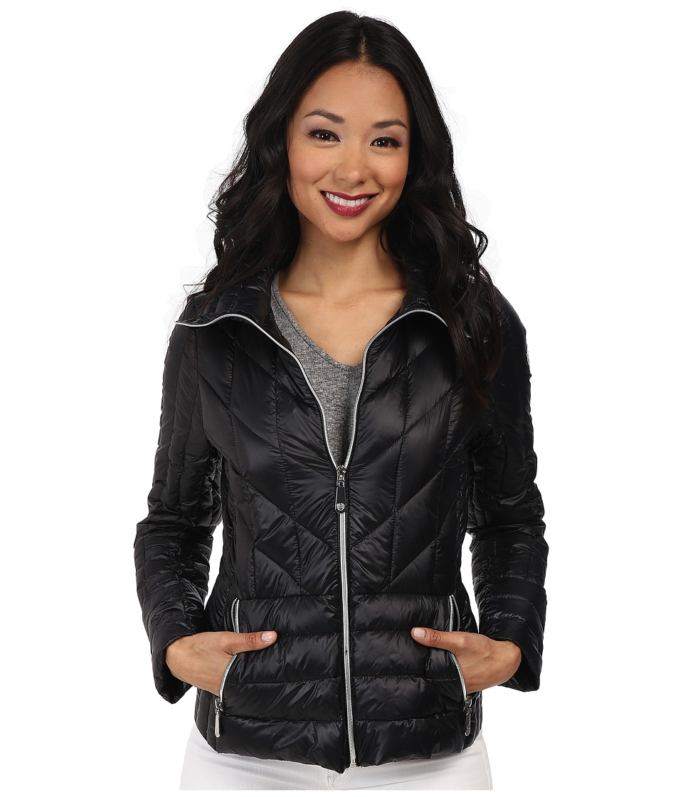 Vince Camuto - Light Weight Packable Down Coat (Black) Women's Coat