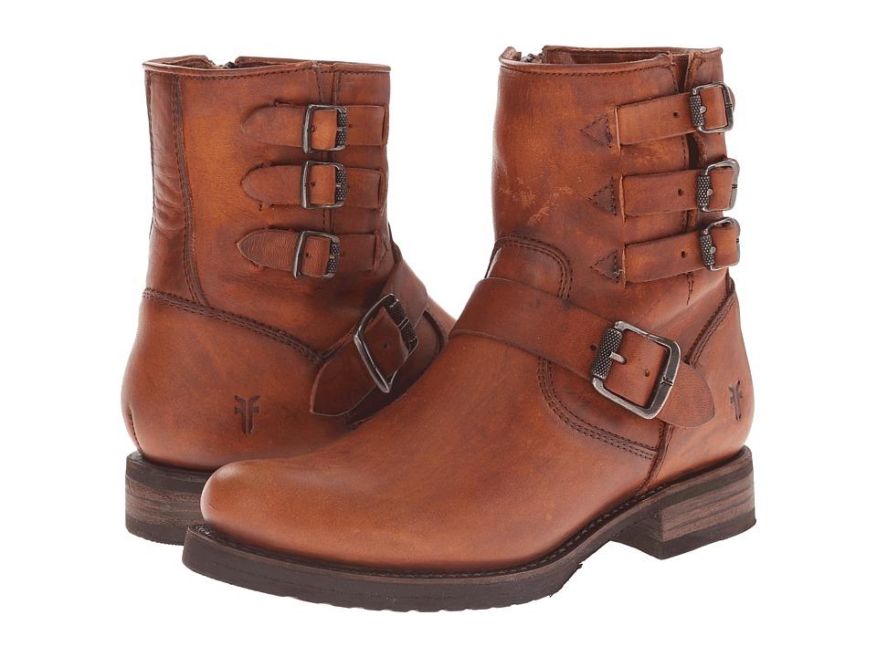 Frye - Veronica Belted Short (Cognac Washed Oiled Vintage) Cowboy Boots