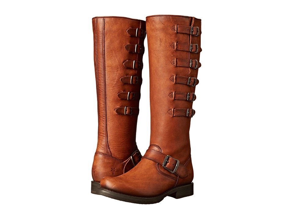 Frye - Veronica Belted Tall (Cognac Washed Oiled Vintage) Cowboy Boots