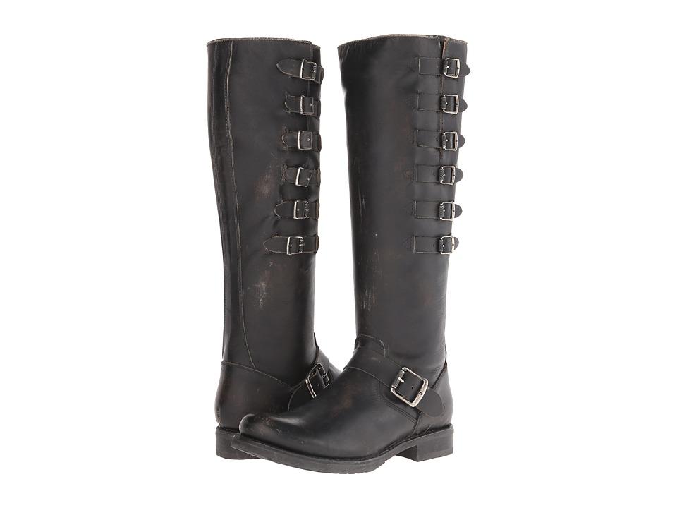 Frye Veronica Belted Tall (Black Stonewash) Cowboy Boots
