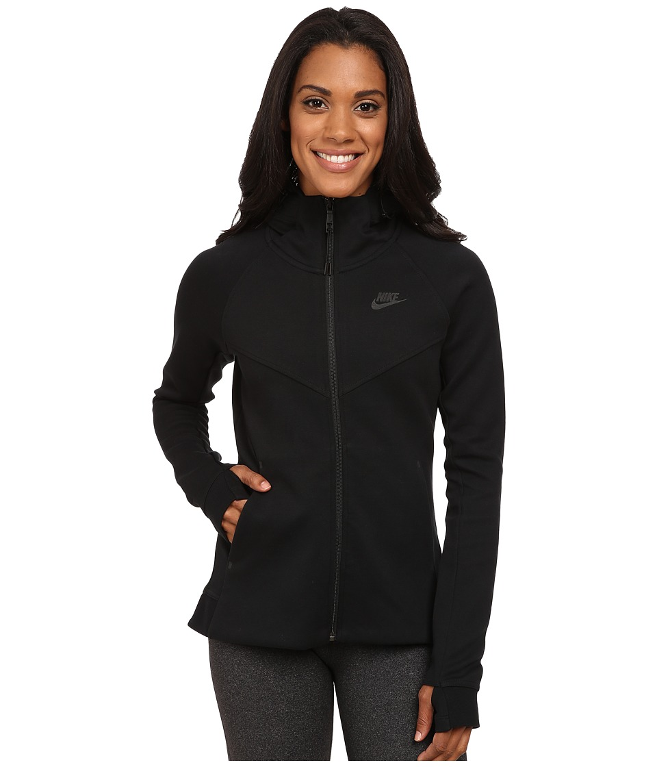 Nike - Tech Fleece Full-Zip Hoodie (Black/Black) Women