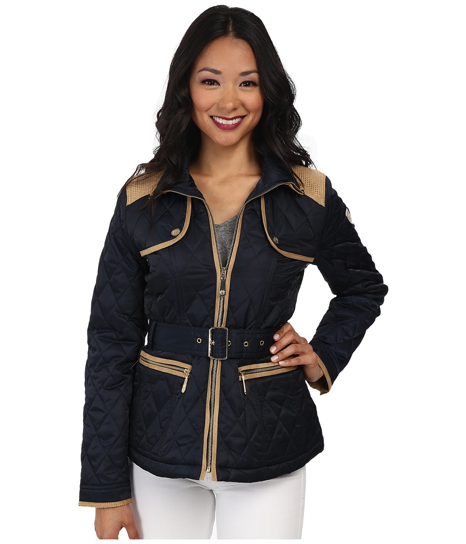 Vince Camuto - Quilted Coat (Navy) Women's Coat