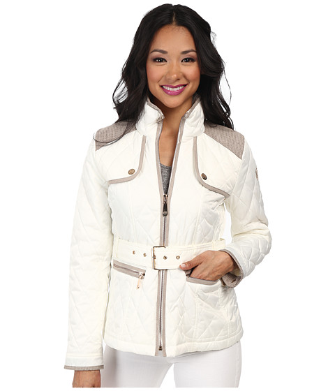 Vince Camuto - Quilted Coat (Off White) Women's Coat
