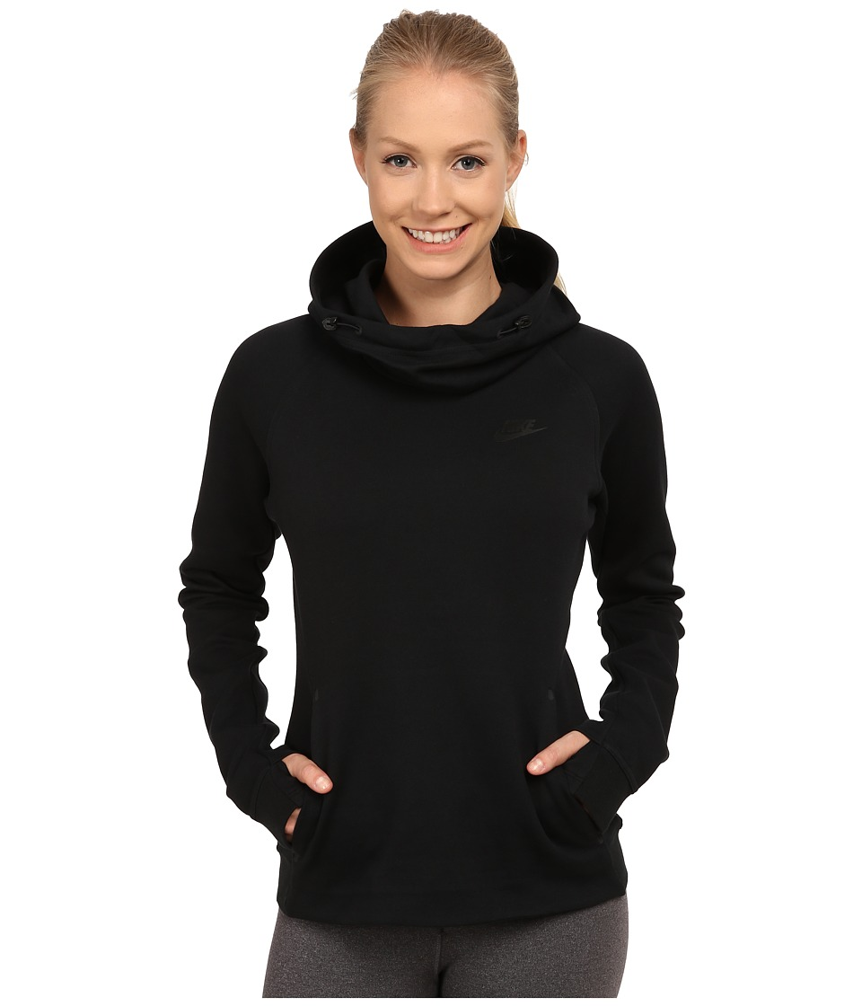 Nike - Tech Fleece Hoodie (Black/Black) Women's Sweatshirt