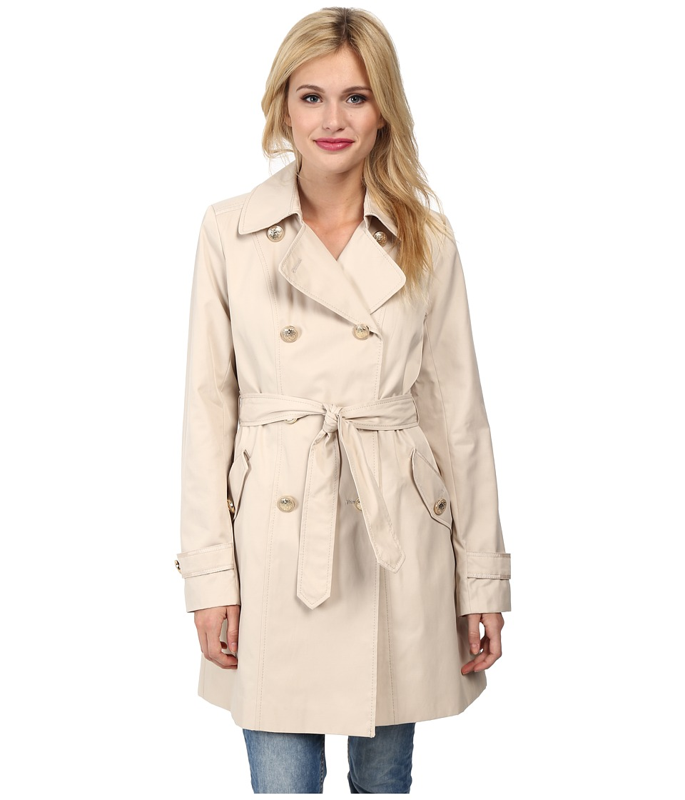 Vince Camuto - Double Breasted Trench Coat (Bone) Women's Coat