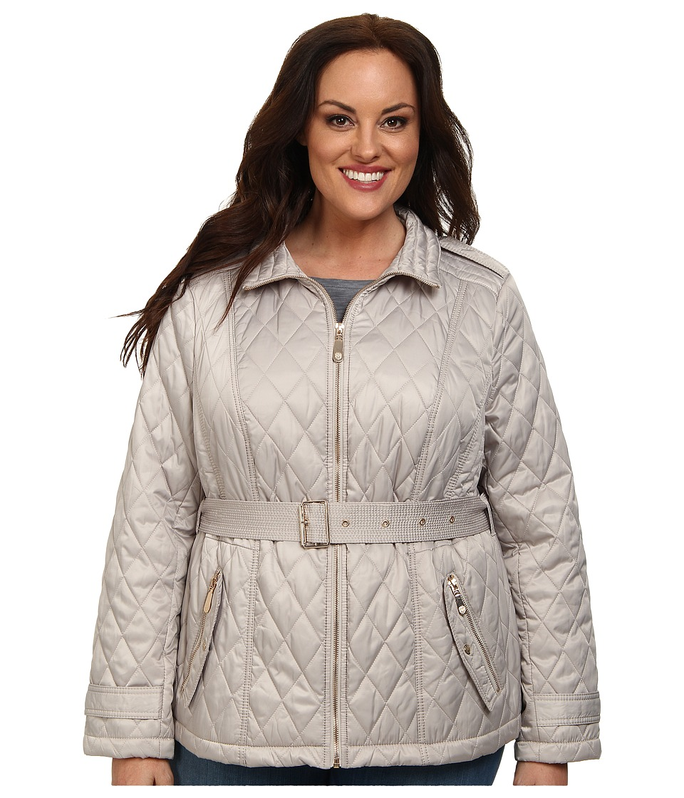 Vince Camuto - Plus Size Quilted Coat (Clay) Women's Coat