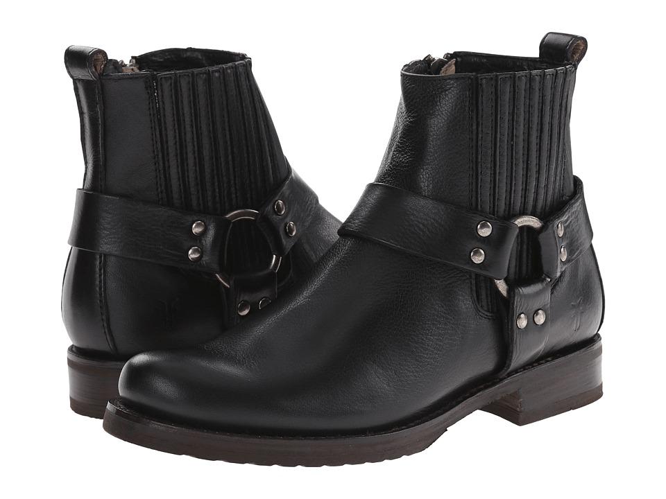 Frye - Veronica Harness Chelsea (Black Soft Vintage Leather) Cowboy Boots