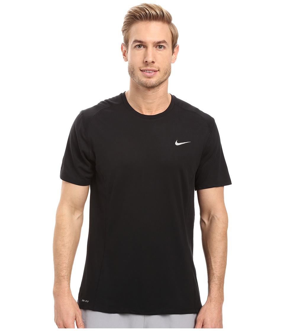 Nike - Dri-FIT Miler Running Shirt (Black/Reflective Silver) Men's Workout