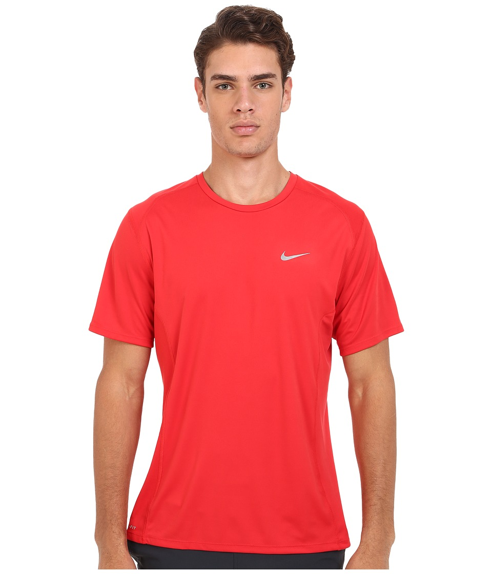 Nike - Dri-FIT Miler Running Shirt (University Red/Reflective Silver) Men's Workout