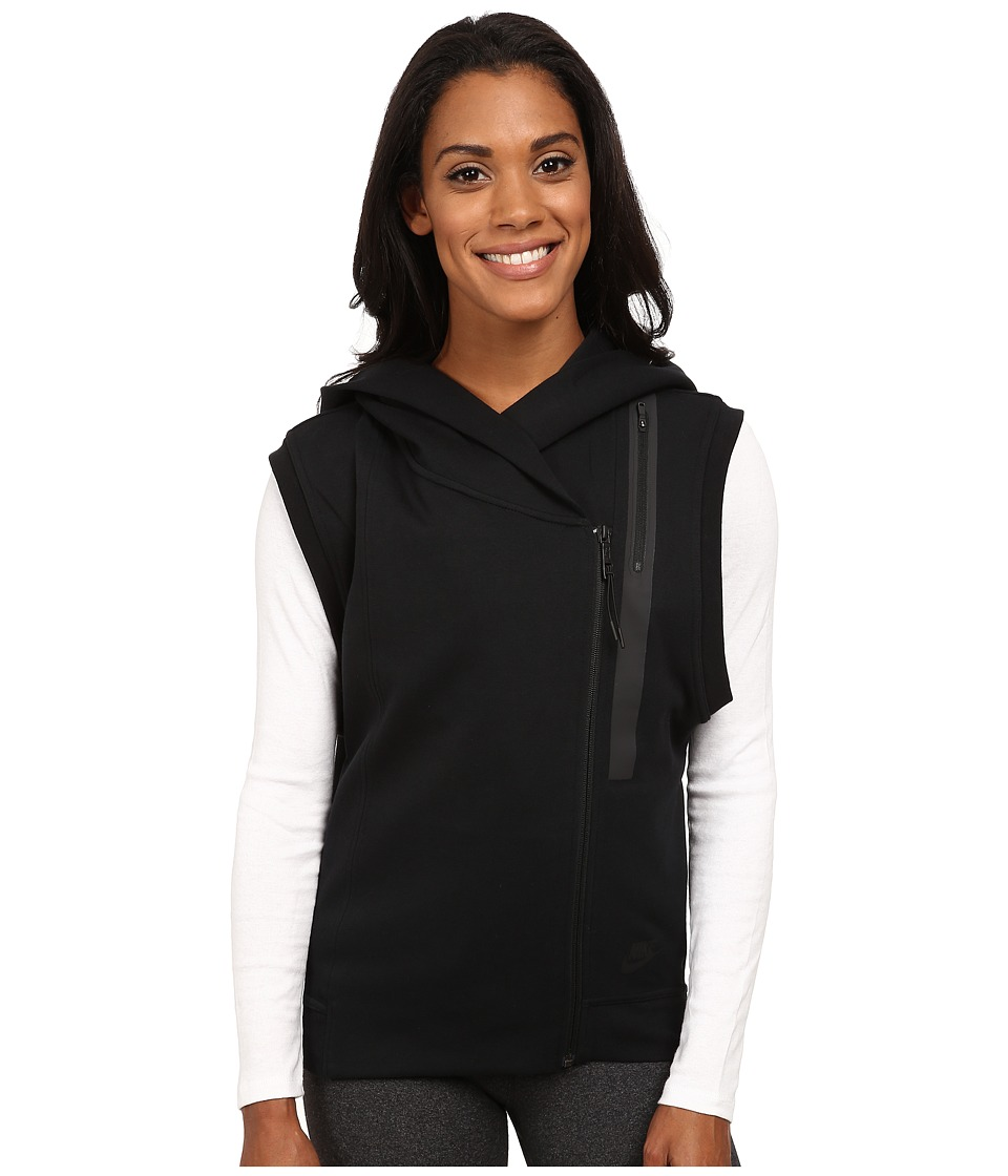 Nike - Tech Fleece Vest (Black/Black) Women's Jacket