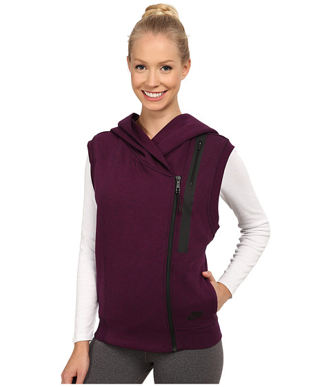 Nike - Tech Fleece Vest (Mulberry/Heather/Black) Women's Jacket