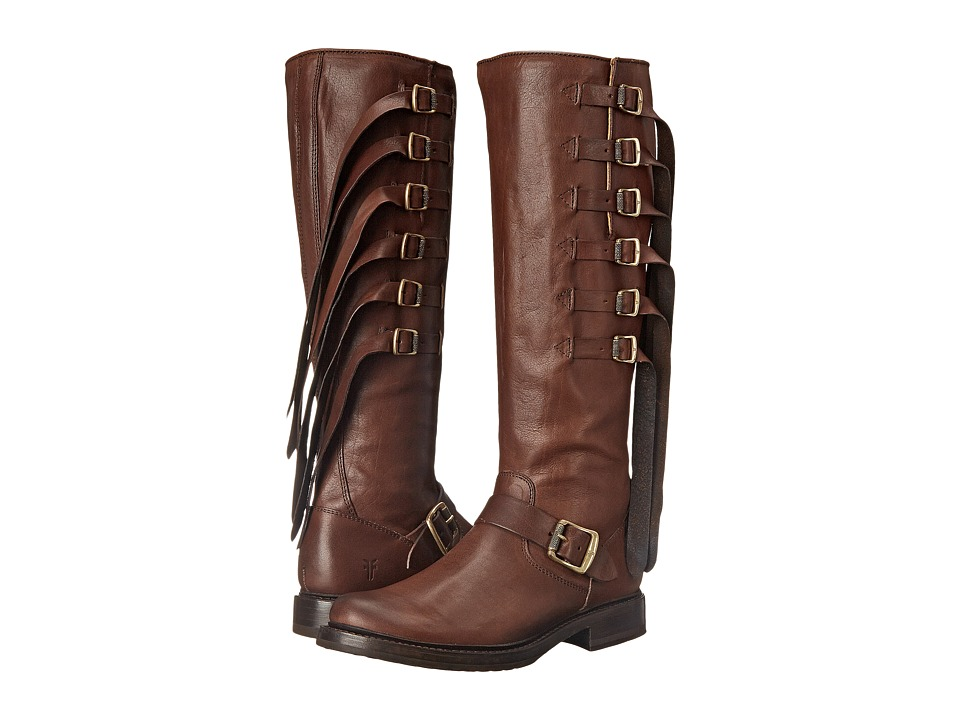 Frye - Veronica Strap Tall (Chocolate Tumbled Full Grain) Cowboy Boots