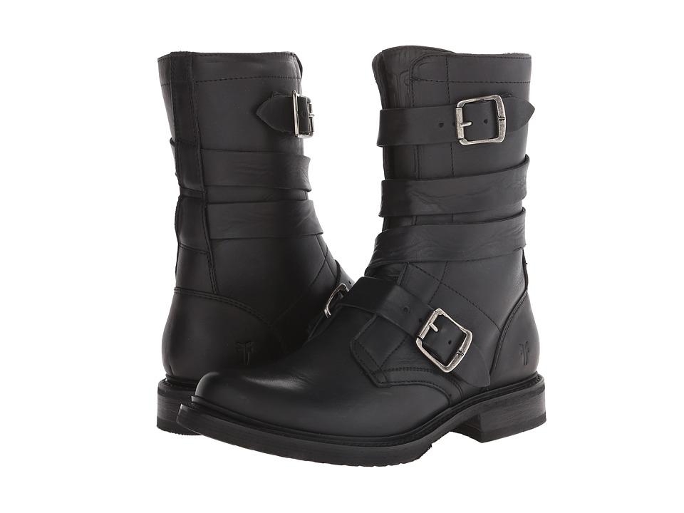 Frye - Veronica Tanker (Black Washed Oiled Vintage) Cowboy Boots