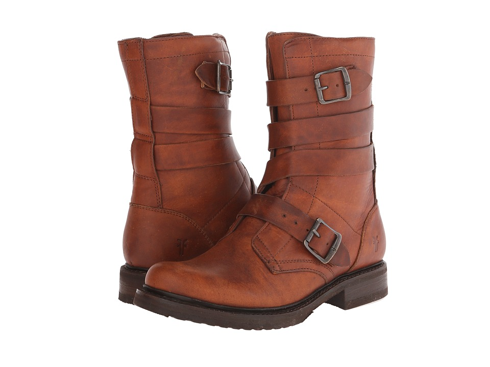 Frye - Veronica Tanker (Cognac Washed Oiled Vintage) Cowboy Boots