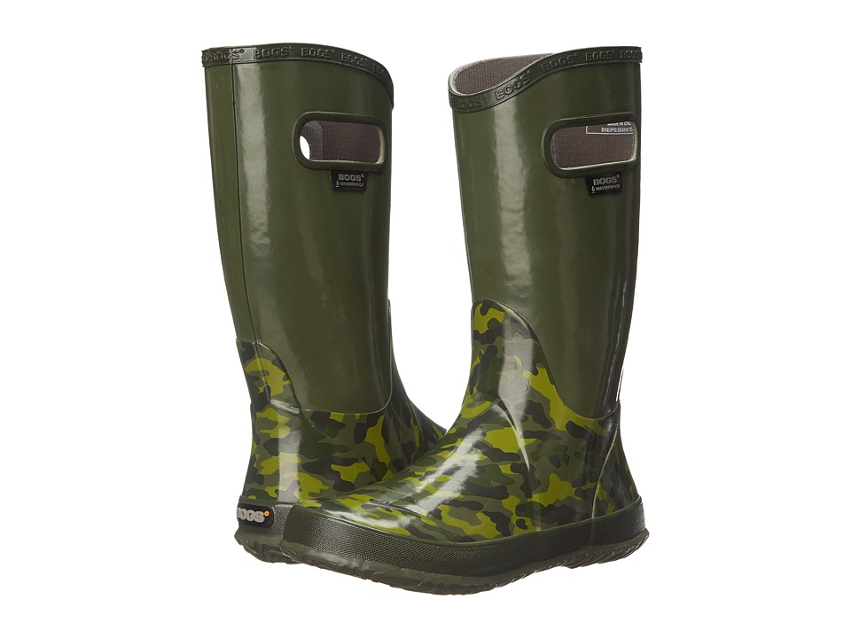 Bogs Kids - Rain Boot Small Camo (Toddler/Little Kid/Big Kid) (Green Multi) Boys Shoes