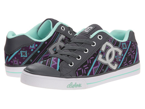 DC Kids - Chelsea Graffik (Big Kid) (Armor/Purple) Girls Shoes