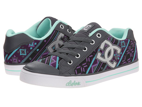 DC Kids - Chelsea Graffik (Little Kid) (Armor/Purple) Girls Shoes