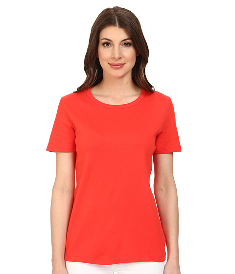Pendleton - S/S Rib Tee (Poppy Red) Women