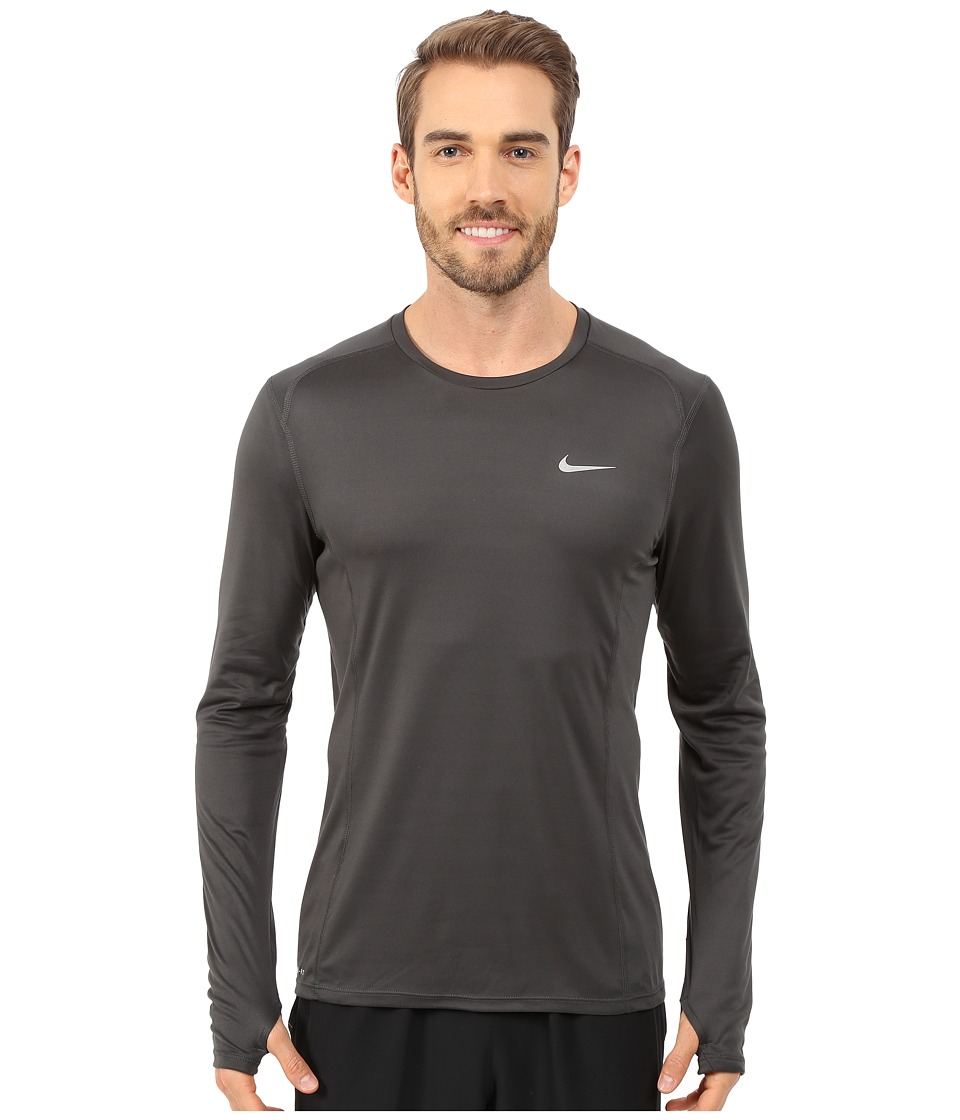 Nike - Dri-Fit Miler L/S Shirt (Anthracite/Reflective Silver) Men's Workout