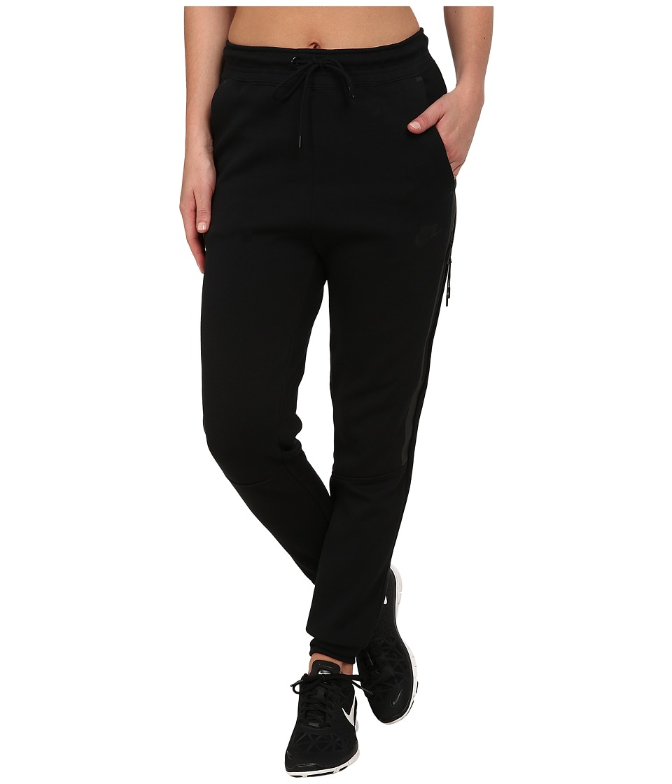Nike - Tech Fleece Pants (Black/Black) Women's Casual Pants