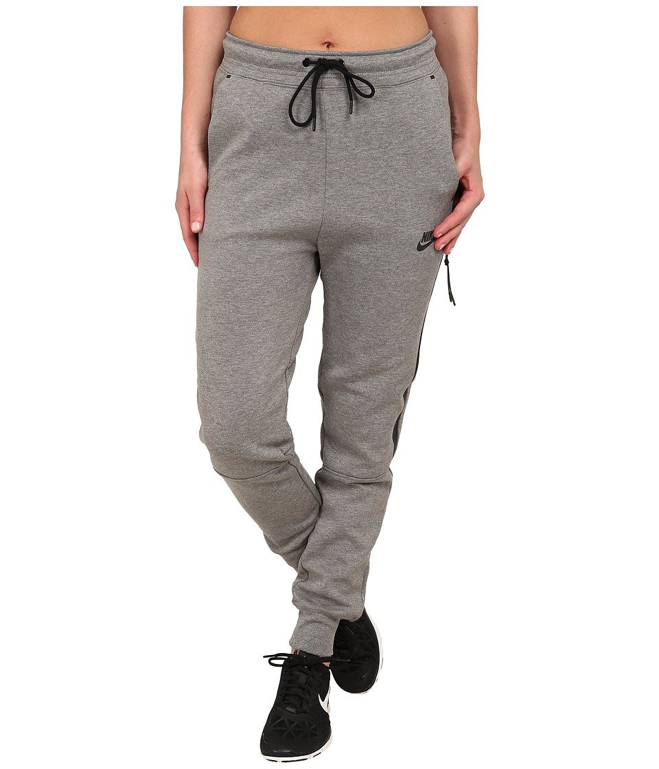 Nike - Tech Fleece Pants (Carbon Heather/Black) Women's Casual Pants