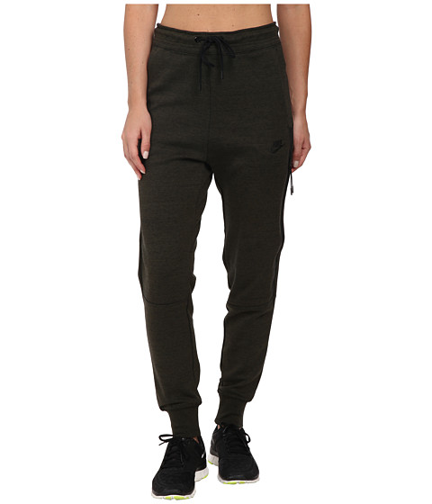 Nike - Tech Fleece Pants (Cargo Khaki/Heather/Black) Women