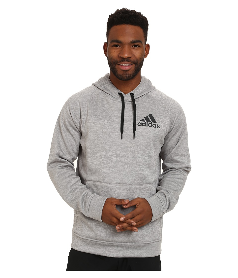 adidas - Team Issue Fleece Pullover Hoodie (Medium Grey Heather/Dark Grey) Men's Sweatshirt