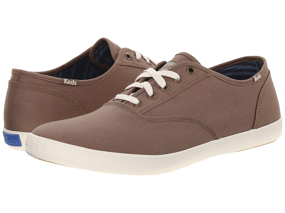 Keds - Champion Solid Army Twill (Walnut Grey) Men's Lace up casual Shoes