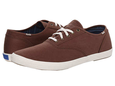 Keds - Champion Solid Army Twill (Cocoa Brown) Men