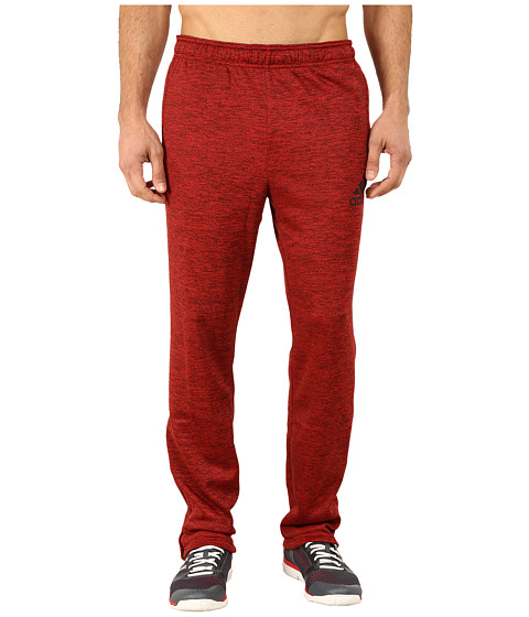 adidas - Team Issue Fleece Taper Pants (Scarlet-Black Heather/Dark Grey) Men's Workout