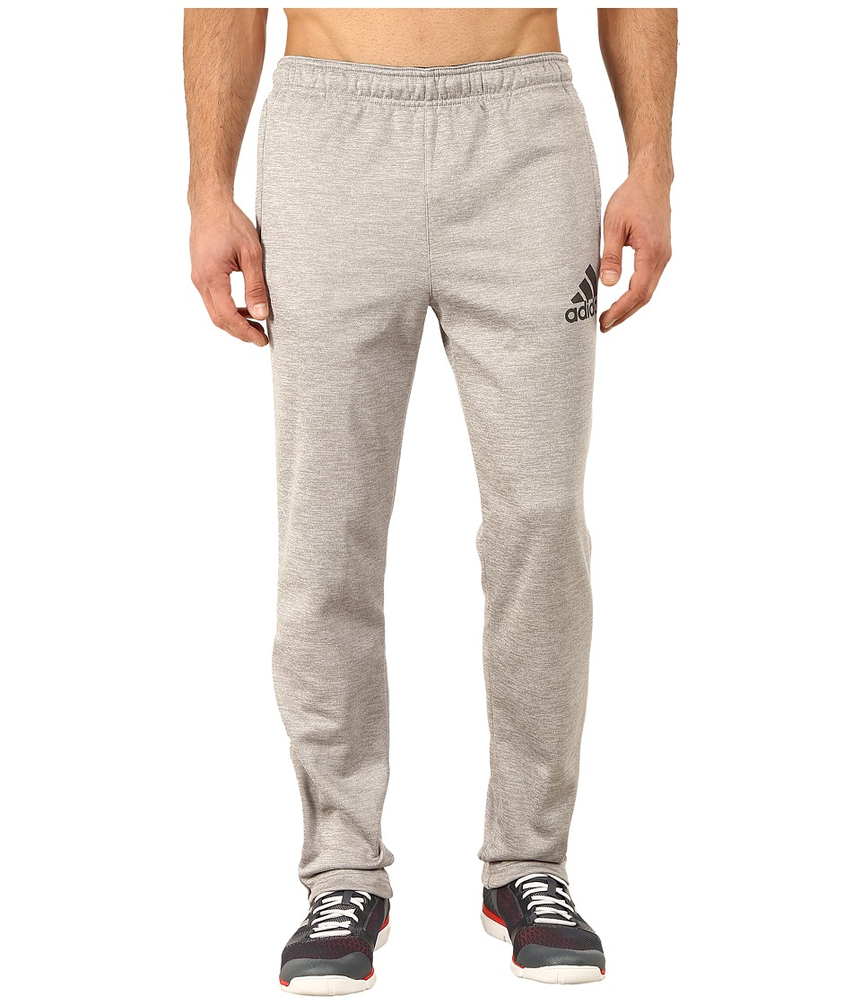 adidas - Team Issue Fleece Taper Pants (Medium Grey Heather/Dark Grey) Men's Workout