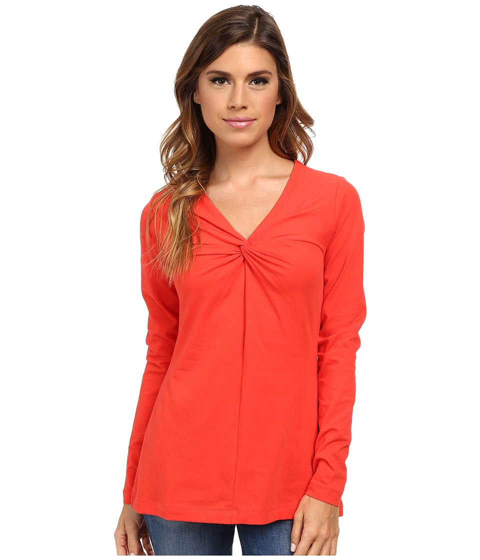 Pendleton - Twist Top Tee (Poppy Red) Women's Long Sleeve Pullover