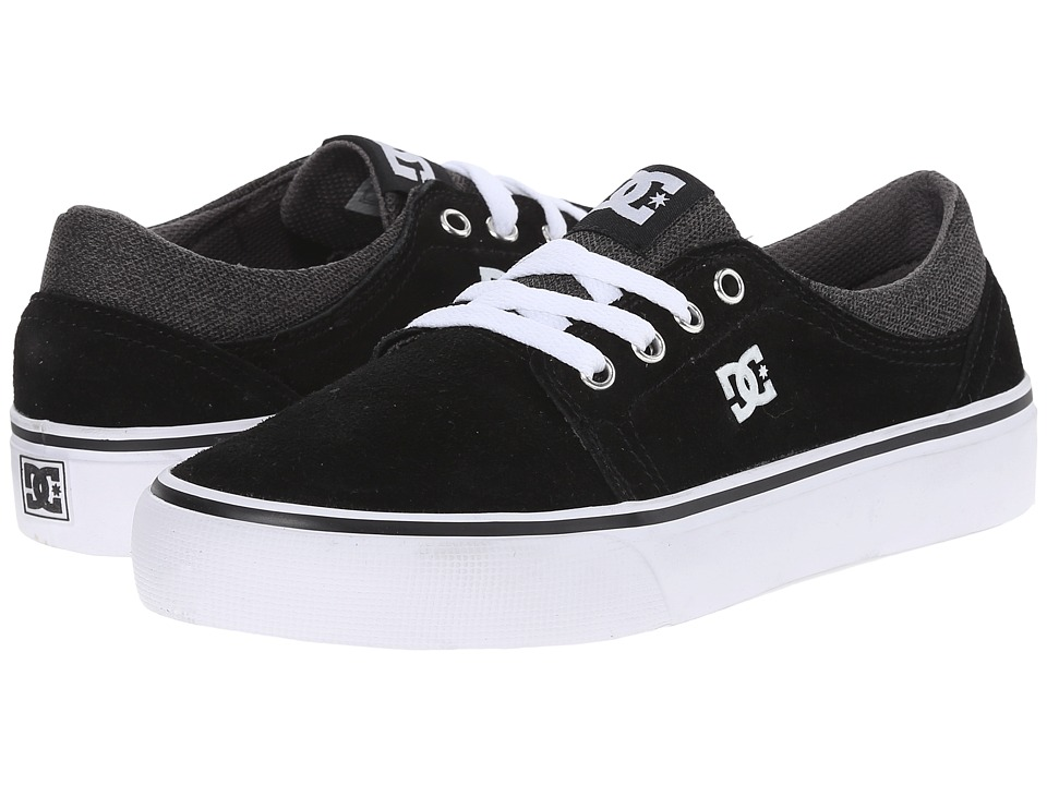 DC Kids - Trase SD (Big Kid) (Black/Grey/White) Boys Shoes