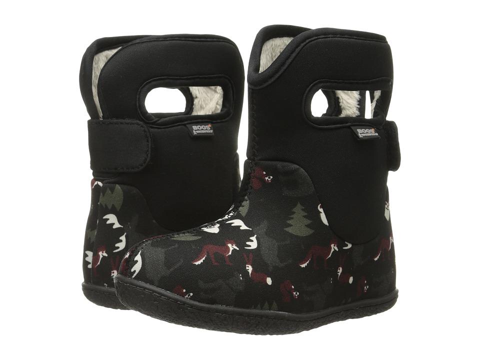 Bogs Kids - Classic Woodland (Toddler) (Black Multi) Boys Shoes